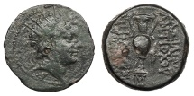 Ancient Coins - Seleukid Kings Antiochos VI, Dionysos 144-142/1 BC 21 VF
