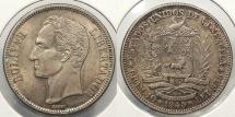 World Coins - VENEZUELA: 1945 2 Bolivares