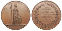 World Coins - NETHERLANDS Utrecht By David Van Der Kellen 1836 Cu 53mm Medal UNC