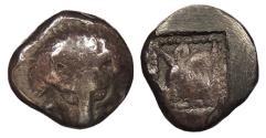 Ancient Coins - Islands off Ionia Samos c. 500-494 B.C. Obol Good Fine