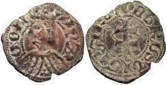 World Coins - SPAIN Aragon Pere III (Pedro IV de Aragon) 1336-1387 Dinero (Diner) EF