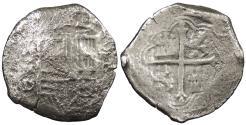 World Coins - MEXICO Philip (Felipe) IV ND (1621-1634) Cob 8 Reales No Grade