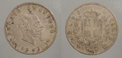 World Coins - ITALY: 1863-N BN 2 Lire