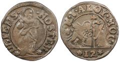 World Coins - ITALIAN STATES Venice Alvise (Aloysius) Mocenigo II ND (1700-1709) Soldo Near EF