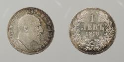 World Coins - BULGARIA: 1910 Lev