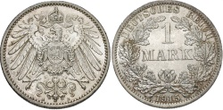 World Coins - GERMANY: 1915 A 1 Mark