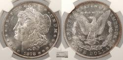 Us Coins - 1878 Morgan 1 Dollar (Silver) 7/8 TF Weak NGC MS-63