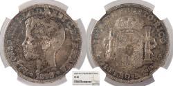 World Coins - PUERTO RICO Alfonso XIII 1895-PGV Peso NGC EF-40