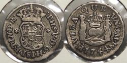 World Coins - MEXICO: 1744-Mo 1/2 Real