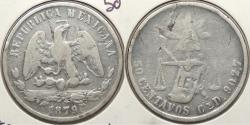 World Coins - MEXICO: 1879-Cn D/G D/G assayer. 50 Centavos