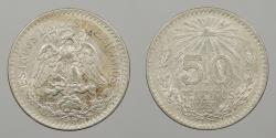 World Coins - MEXICO: 1939 50 Centavos