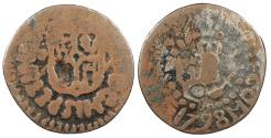 World Coins - PHILIPPINES Charles IV 1798 Octavo (1/8 Real) About Fine