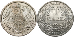 World Coins - GERMANY: 1911 A 1 Mark