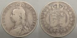 World Coins - GREAT BRITAIN: 1892 Halfcrown