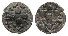 World Coins - SPAIN Catalonia (Catalunya) County of Urgell Teresa de Entenca 1314-1328 Bracteate Pugesa Choice EF
