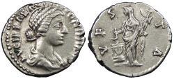 Ancient Coins - Lucilla, wife of Lucius Verus 164-169 A.D. Denarius Rome Mint Good VF Includes Harlan Berk ticket citing ex. Philip Ashton collection.