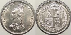 World Coins - GREAT BRITAIN: 1887 Shilling