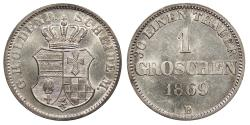 World Coins - GERMAN STATES Oldenburg Nicolaus Friedrich Peter 1869-B Groschen (1/24 Thaler) BU