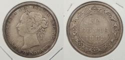 World Coins - CANADA: Newfoundland 1882-H Victoria. 50 Cents