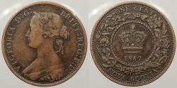 World Coins - CANADA: Nova Scotia 1862 Key date. Cent