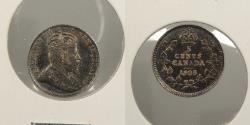 World Coins - CANADA: 1905 Edward VII 5 Cents