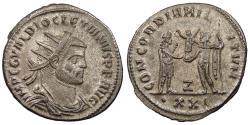 Ancient Coins - Diocletian 284-305 A.D. Antoninianus Antioch Mint Good VF