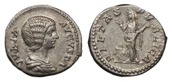 Ancient Coins - Julia Domna, wife of Septimius Severus 193-211 A.D. Denarius Rome Mint EF