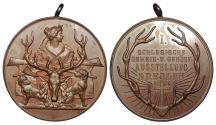 World Coins - GERMANY Silesia Breslau by Oertel, Berlin. 1899 AE 41mm Medal UNC