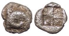 Ancient Coins - Troas Kebren c. 5th Century B.C. Tetartemorion Near VF