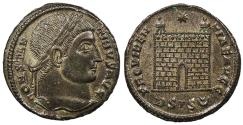 Ancient Coins - Constantine I, the Great 307-337 A.D. Follis Siscia Mint Choice EF