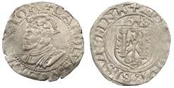 World Coins - FRANCE Besançon Charles V, as Holy Roman Emperor 1530-1556 Blanc 1543 EF