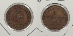 World Coins - GERMAN STATES: Reuss-Schleiz 1868-A Pfennig