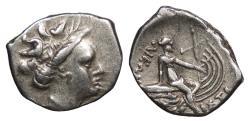 Ancient Coins - Euboea Histaea c. 3rd Century-146 B.C. Tetrobol Good VF