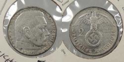 World Coins - GERMANY: 1938-F Hindenburg. 2 Mark