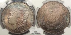 Us Coins - 1878 Morgan 1 Dollar (Silver) 7TF; Rev 78 NGC MS-63