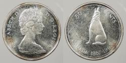 World Coins - CANADA: 1967 Centennial. 50 Cents