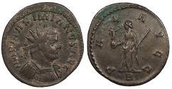 Ancient Coins - Maximianus 286-305 A.D. Antoninianus Lugdunum Mint Good VF