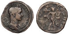 Ancient Coins - Severus Alexander 222-235 A.D. Sestertius Rome Mint Good Fine
