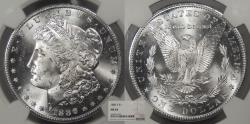 Us Coins - 1886 S Morgan 1 Dollar (Silver) NGC MS-64