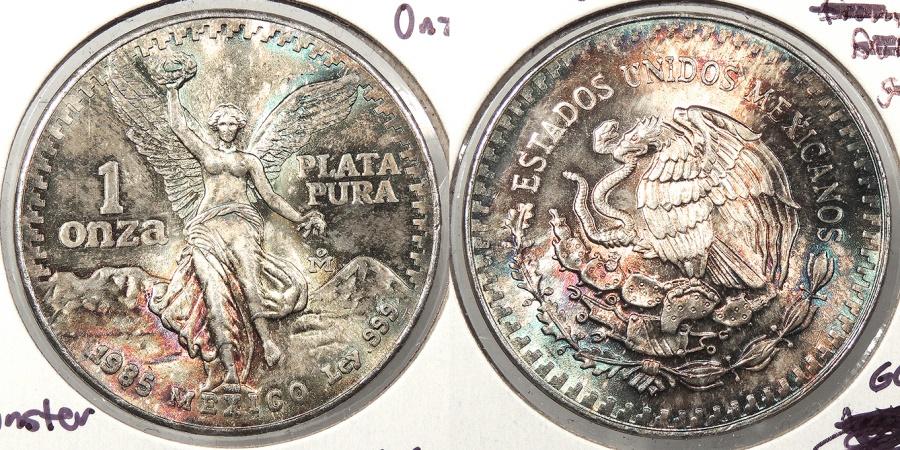 World Coins - MEXICO: 1985 Libertad - fantastic toning Onza