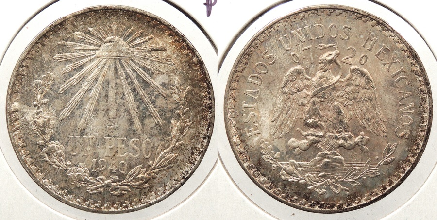 World Coins - MEXICO: 1940-M Peso