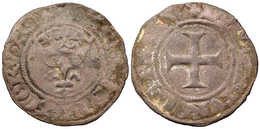 World Coins - FRANCE Charles VI 1380-1422 Double Tournois dit niquet Fine