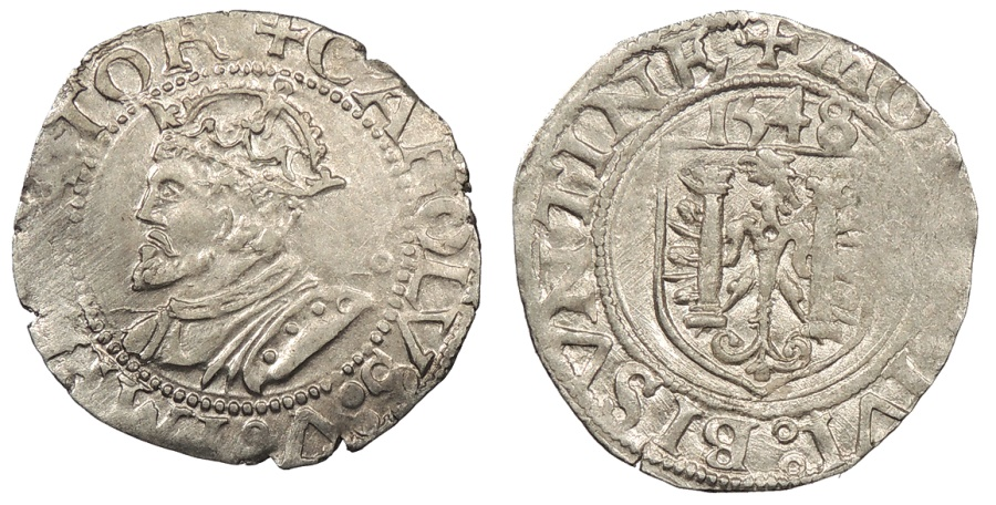 World Coins - FRANCE Besançon Charles V, as Holy Roman Emperor 1530-1556 Blanc 1543 EF