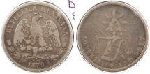 World Coins - MEXICO: 1879-Cn D/G 50 Centavos