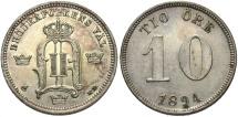 World Coins - SWEDEN: 1894 10 Ore