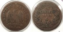 World Coins - MEXICO: Guadalajara 1876-Ga Centavo