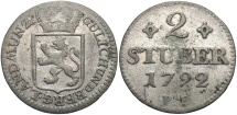 World Coins - GERMAN STATES: Julich-Berg 1792 2 Stuber