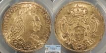 World Coins - BRAZIL D. Maria e D. Pedro III (Maria I & Pedro III) 1782-R 6400 Reis PCGS AU-55