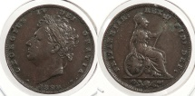 World Coins - GREAT BRITAIN: 1829 Farthing