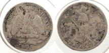 World Coins - MEXICO: 1871-Zs H 25 Centavos